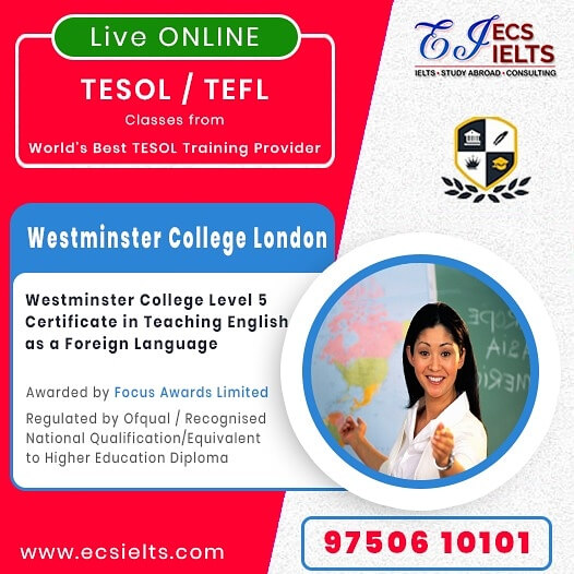 IELTS Online Coching Training - Online TESOL / TEFL Westminster College London - 1